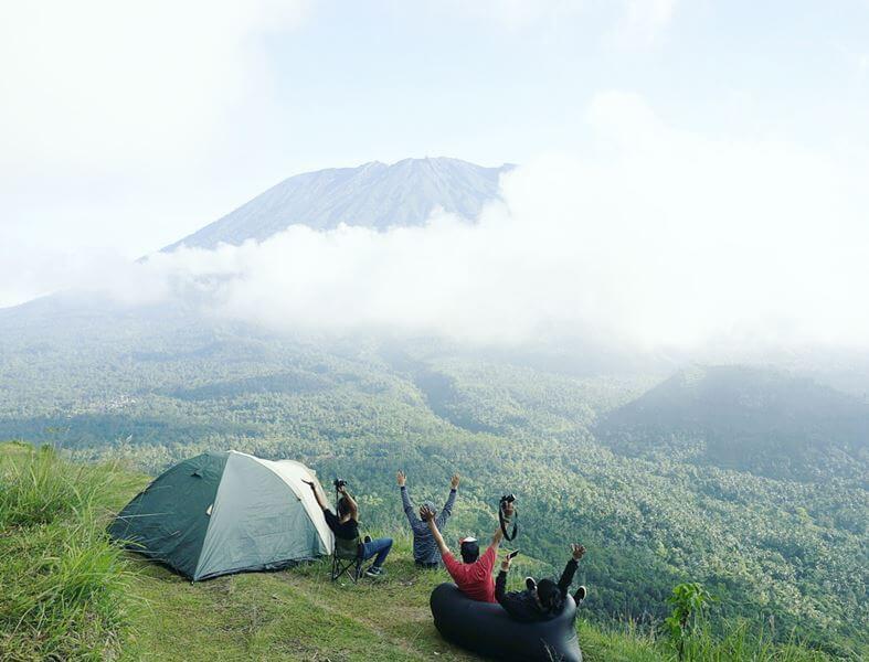 tempat camping di bali bukit cemara