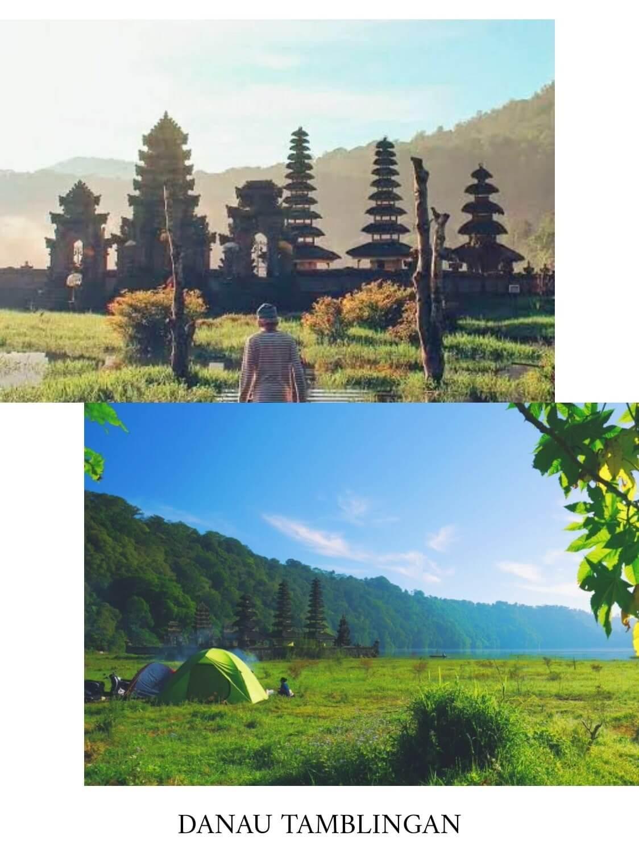 tempat camping di bali danau tamblingan