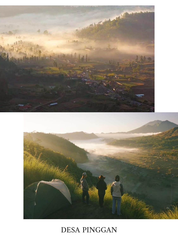 tempat camping di bali desa pinggan