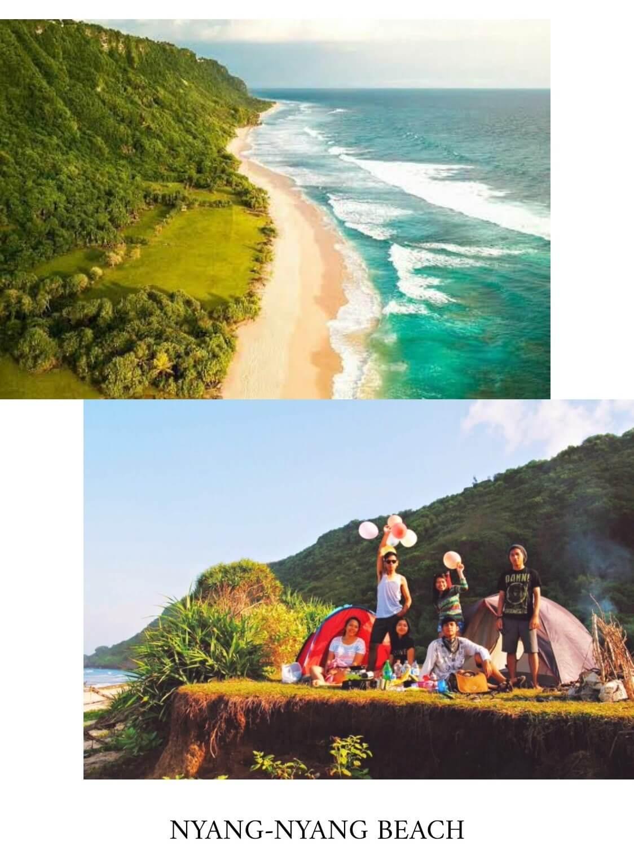 tempat camping di bali nyang-nyang beach