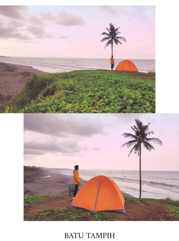 tempat camping di bali batu tampih beach