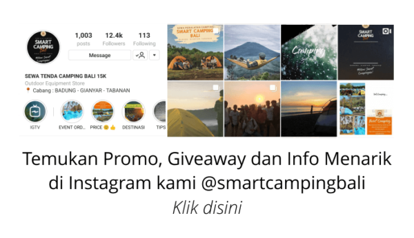sewa tenda camping instagram