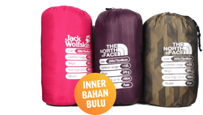 sleeping bag sewa tenda camping di bali